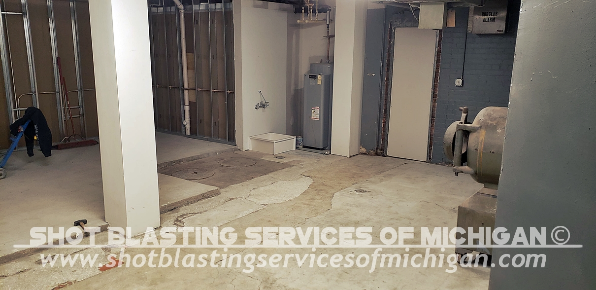 Shot-Blasting-Services-Michigan-Grey-Epoxy-Commercial-Basement-Floor-03-2020-01-03
