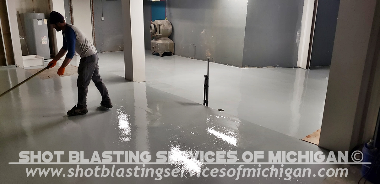 Shot-Blasting-Services-Michigan-Grey-Epoxy-Commercial-Basement-Floor-03-2020-01-07
