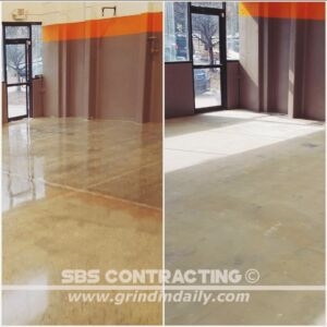 SBS Contracting Concrete Polish Project 02 01 Before & After