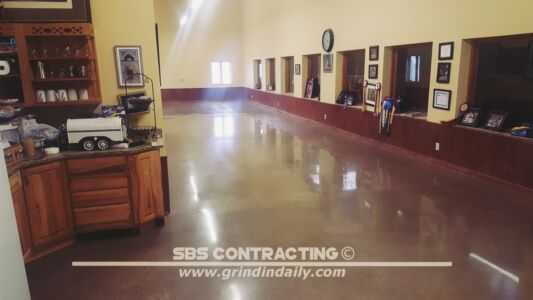 SBS Contracting Concrete Polish Project 05 01 Acetone Dye