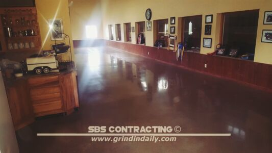 SBS Contracting Concrete Polish Project 05 02 Acetone Dye