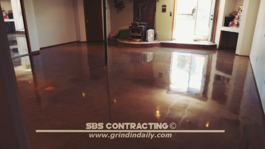 SBS Contracting Concrete Stain Project 03 07