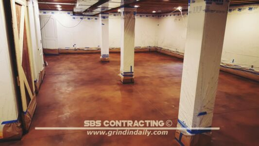 SBS Contracting Concrete Stain Project 05 01