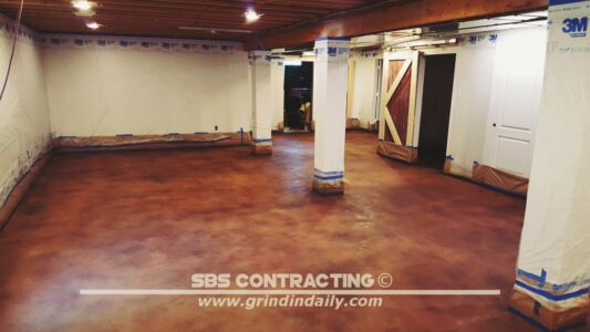 SBS Contracting Concrete Stain Project 05 02