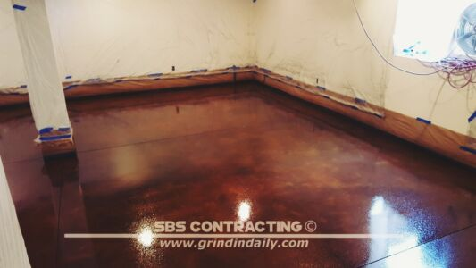 SBS Contracting Concrete Stain Project 05 04