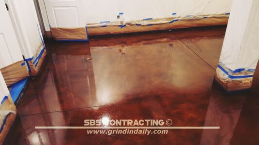 SBS Contracting Concrete Stain Project 05 08
