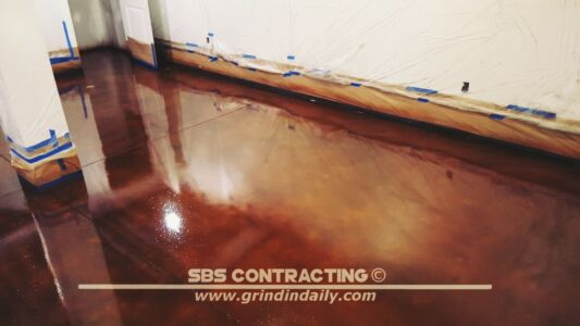 SBS Contracting Concrete Stain Project 05 09
