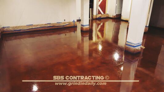 SBS Contracting Concrete Stain Project 05 10