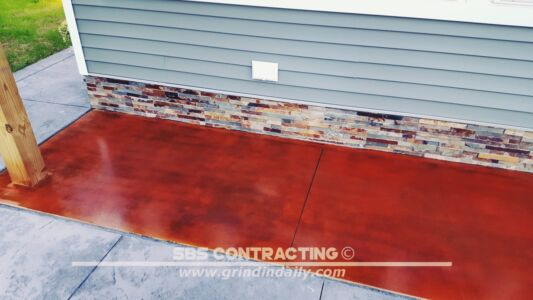 SBS Contracting Concrete Stain Project 06 03