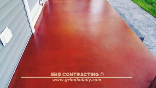 SBS Contracting Concrete Stain Project 06 05