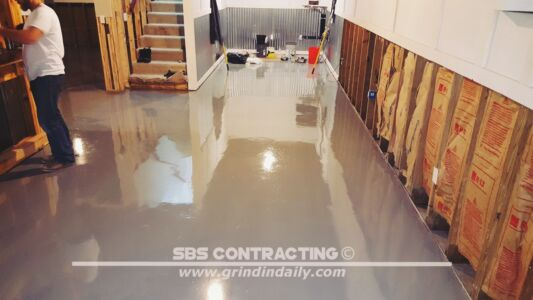 SBS Contracting Concrete Stain Project 07 05 2 Color Metallic