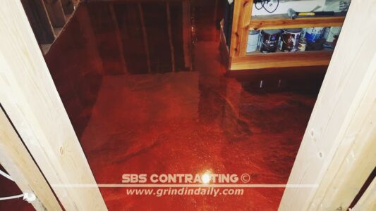 SBS Contracting Concrete Stain Project 07 08 2 Color Metallic