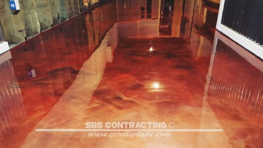 SBS Contracting Concrete Stain Project 07 10 2 Color Metallic
