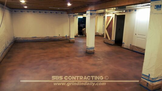 SBS Contracting Concrete Stain Project 11 02