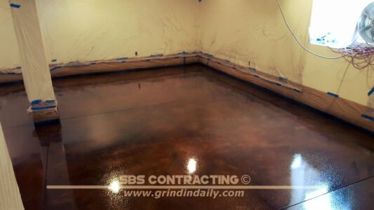 SBS Contracting Concrete Stain Project 11 04