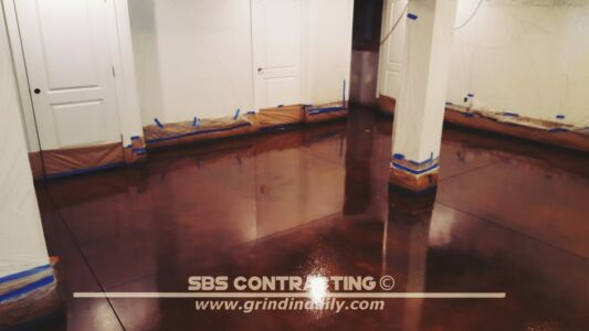 SBS Contracting Concrete Stain Project 11 05