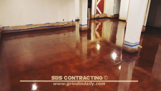 SBS Contracting Concrete Stain Project 11 10