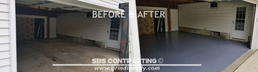 SBS Contracting Epoxy Garage Floor Micro Chip Broadcast Floor Before And After 08 2018 03-horz