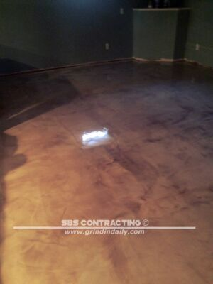 SBS Contracting Metallic Epoxy Project White And Brown 05 09 2018 01