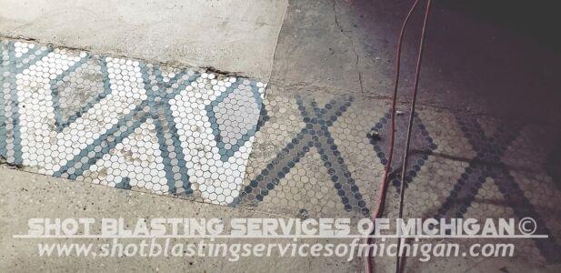 Shot Blasting Services Michigan Grey Epoxy Commercial Basement Floor 03 2020 01 02